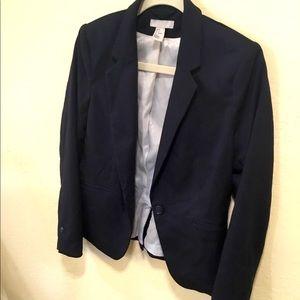 H&M Navy Blue ladies blazer sport coat button